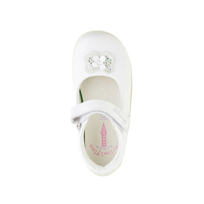 Bílá dětská obuv s páskem primigi, bílá, 124-1136 - 19