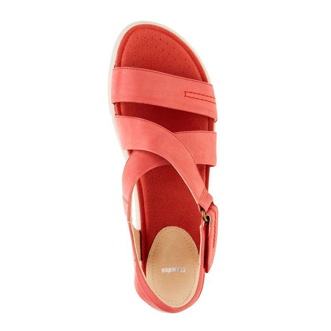 Dámské červené kožené sandály bata, červená, 564-5351 - 19