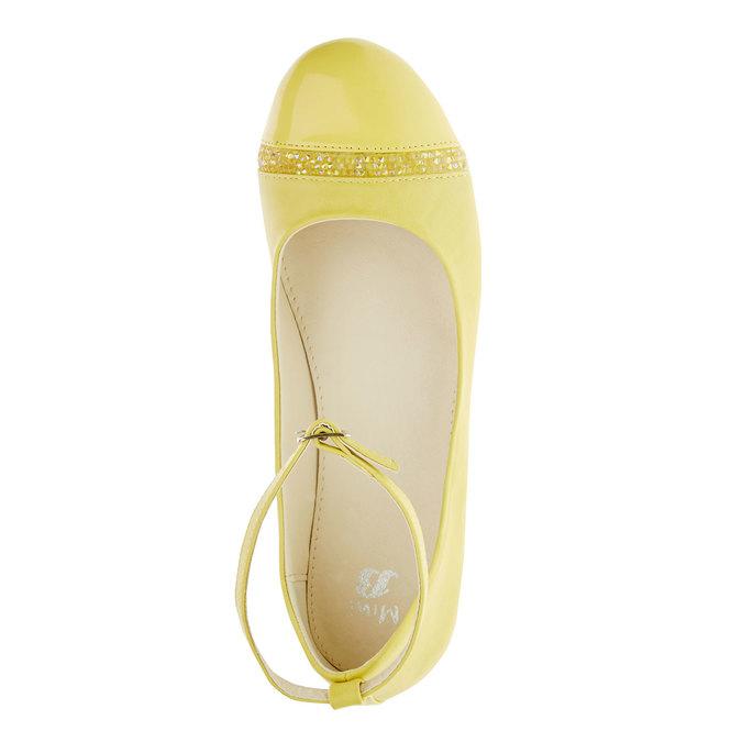 Žluté baleríny s páskem mini-b, žlutá, 321-8181 - 19