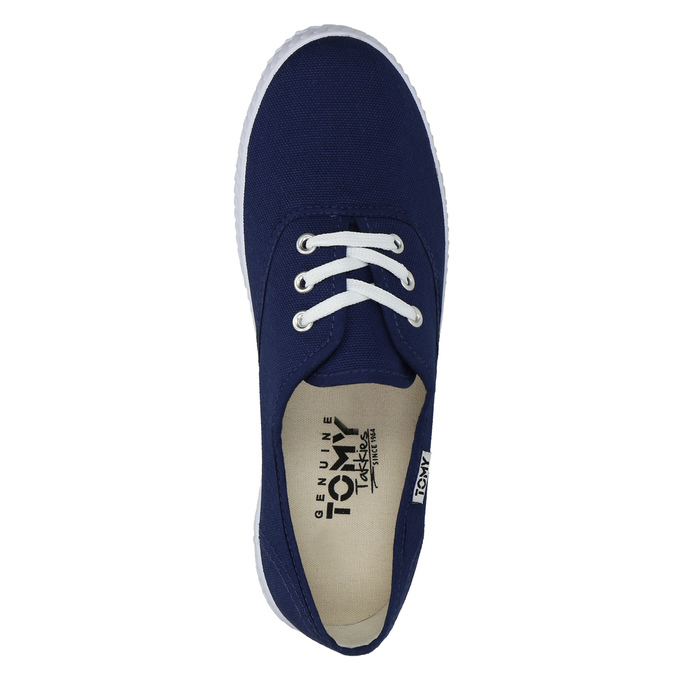 Modré textilní tenisky tomy-takkies, modrá, 519-9691 - 19