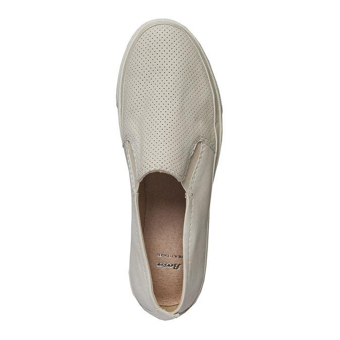 Kožené Plim Soll boty s perforací bata, bílá, 514-1197 - 19