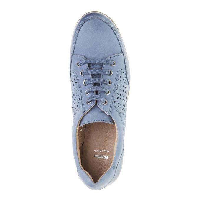 Ležérní kožené tenisky bata, modrá, 524-9511 - 19