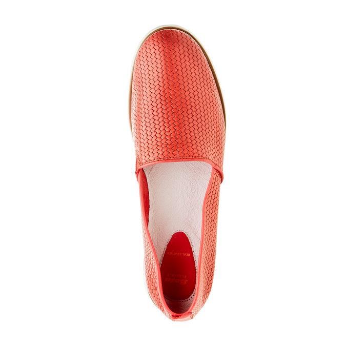 Dámské Slip on s pleteným vzorem flexible, červená, 515-5203 - 19