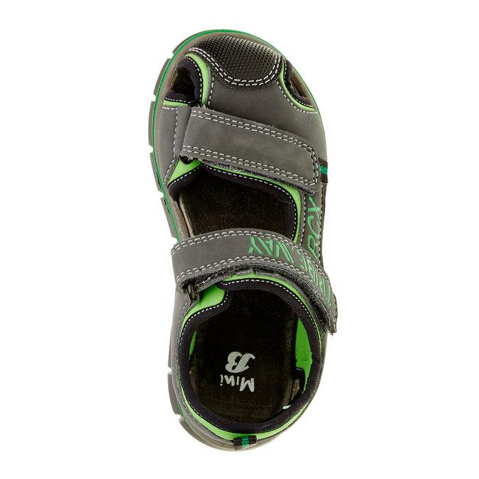Dětské sandály mini-b, šedá, 361-2120 - 19