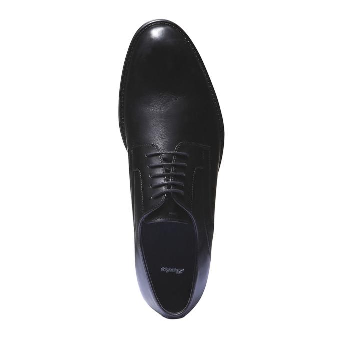 Kožené polobotky v Derby stylu bata, černá, 824-6108 - 19