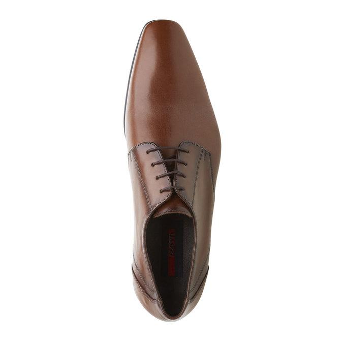 Pánská kožená obuv typu Derby lloyd, hnědá, 824-3108 - 19