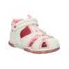 Dívčí sandály na suchý zip mini-b, bílá, 121-1105 - 13
