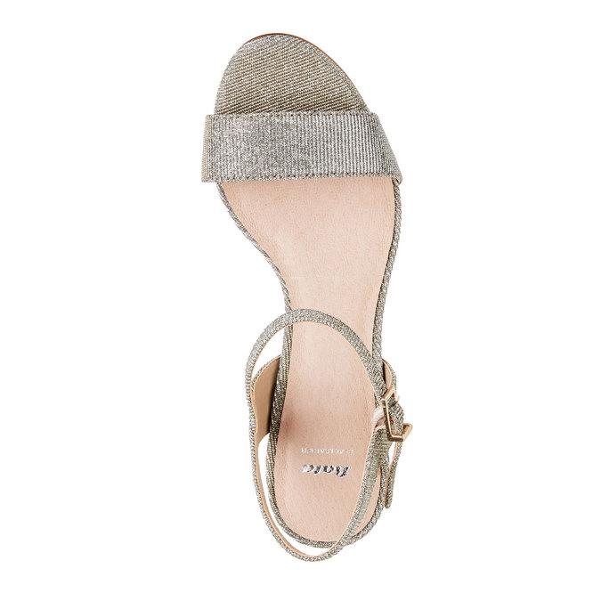 Stříbrné sandály na jehlovém podpatku bata, stříbrná, 761-1310 - 19