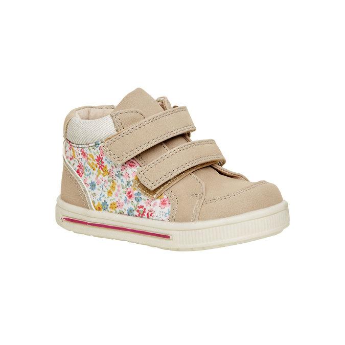 Kotníčkové boty na suché zipy mini-b, béžová, hnědá, 121-8101 - 13