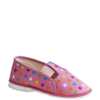 Dětská domácí obuv bata, růžová, 179-5105 - 13