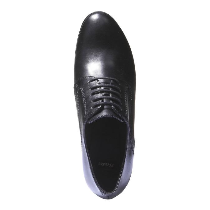 Dámské kožené polobotky na podpatku bata, černá, 724-6792 - 19