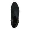 Kotníčková obuv z broušené kůže bata, černá, 693-6600 - 19
