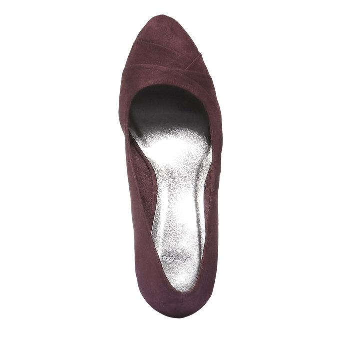 Lodičky na klínovém podpatku bata, fialová, 729-5231 - 19