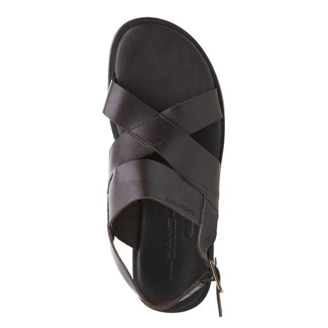 Pánské kožené sandály rockport, černá, 864-6106 - 19