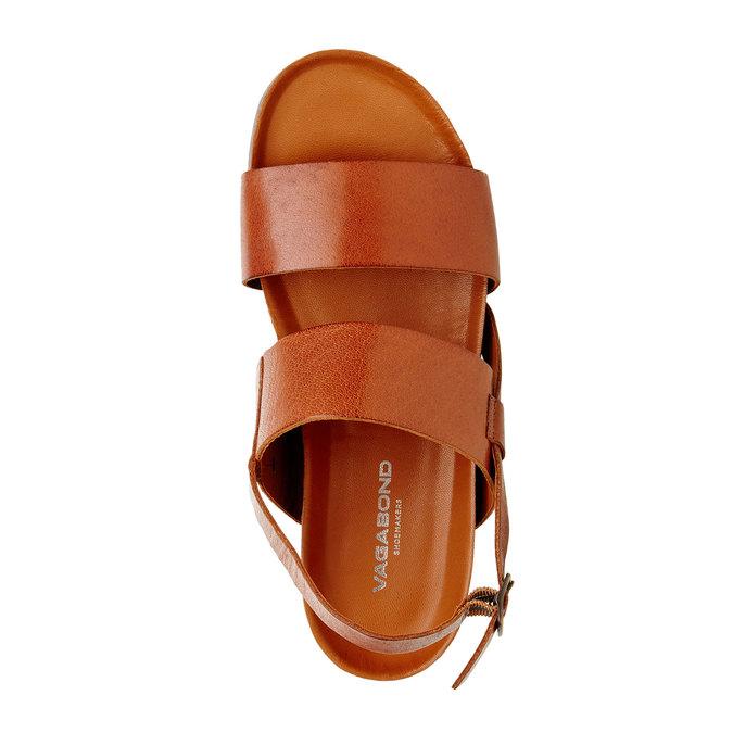Kožené pánské sandály vagabond, hnědá, 864-3010 - 19