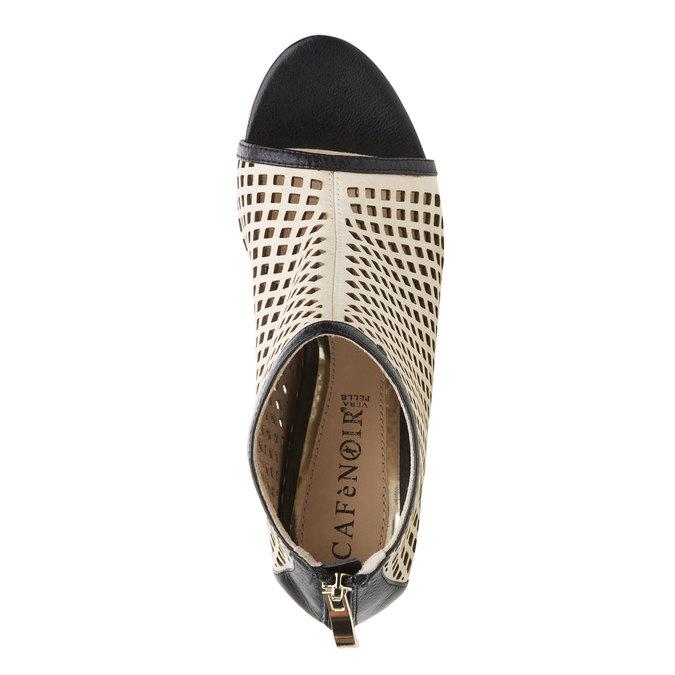 Dámské sandály na masivním podpatku cafe-noir, černá, béžová, 764-8003 - 19