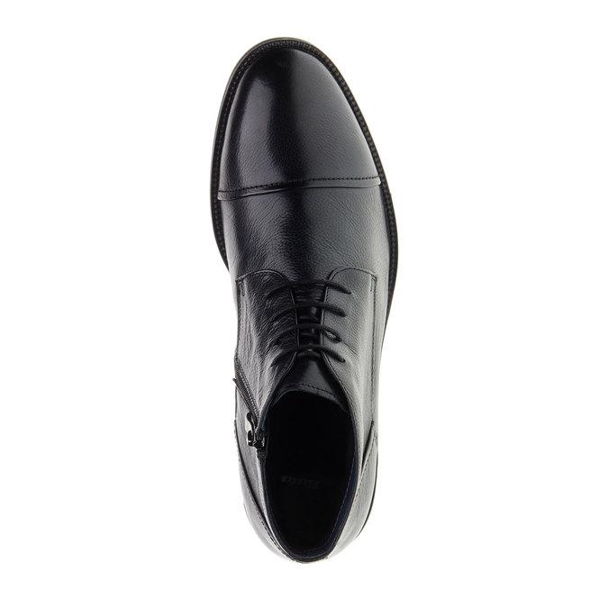 Kožené kotníkové Chukka Boots bata, černá, 894-6260 - 19