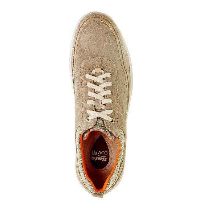 Ležérní kožené tenisky comfit, béžová, 843-8643 - 19