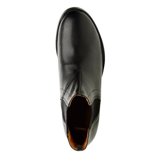 Dámské kožené Chelsea Boots bata, černá, 594-6267 - 19
