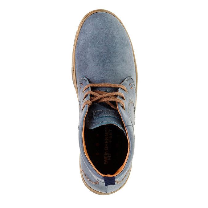 Kožená kotníčková obuv weinbrenner, modrá, 896-9209 - 19