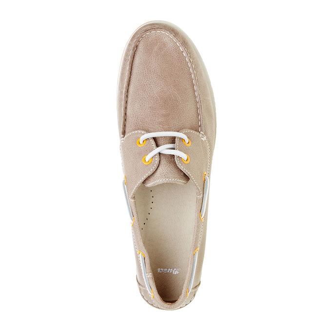 Pánské kožené mokasíny bata, šedá, 854-2188 - 19