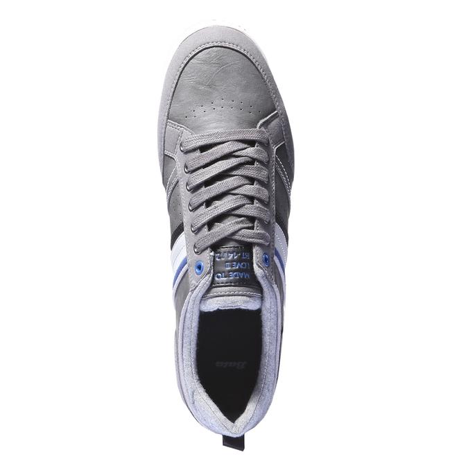 Tenisky s kontrastními detaily bata, šedá, 841-2254 - 19