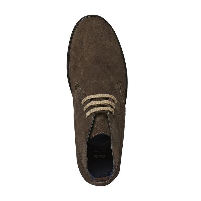 Semišové polobotky bata, hnědá, 893-7387 - 19