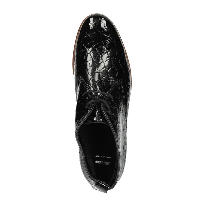 Dámské kožené polobotky ke kotníkům bata, černá, 598-6601 - 19