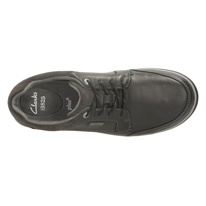 Leather Sneakers clarks, šedá, 844-6529 - 19