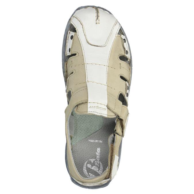 Pánské kožené sandály bata, bílá, 856-1300 - 19