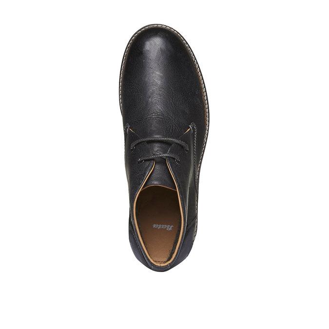Kožené boty ve stylu Desert Boots bata, černá, 894-6114 - 19