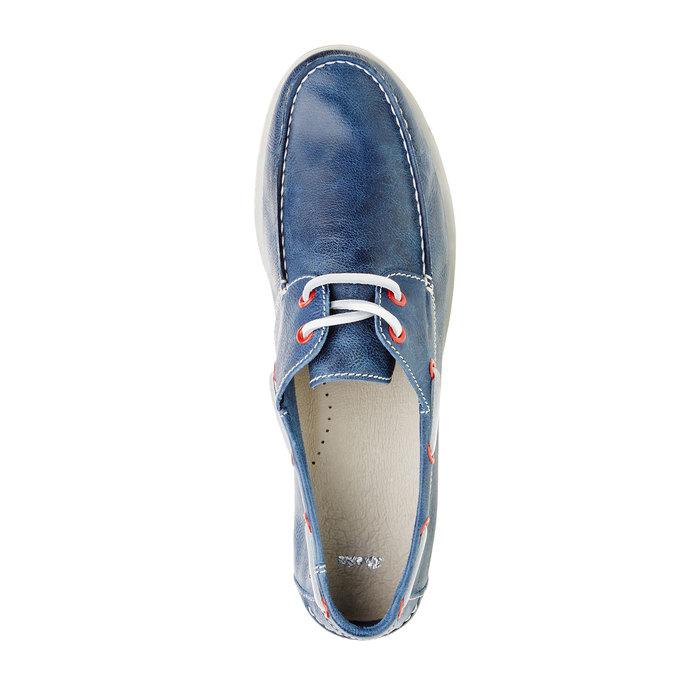 Pánské kožené mokasíny bata, modrá, 854-9188 - 19