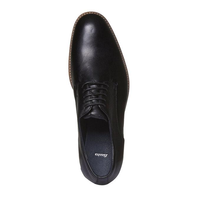 Kožené polobotky v Derby stylu bata, černá, 824-6707 - 19
