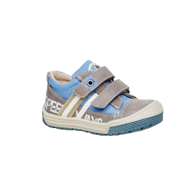 Dětské boty na suché zipy mini-b, šedá, 111-2104 - 13
