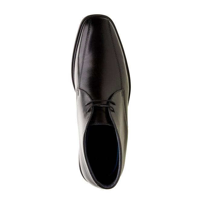 Kožené kotníčkové boty climatec, černá, 894-6208 - 19