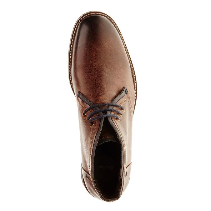 Kožená obuv v Chukka stylu bata, hnědá, 894-4126 - 19