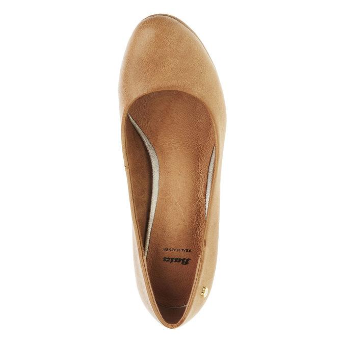 Lodičky na širokém podpatku bata, hnědá, 721-4946 - 19