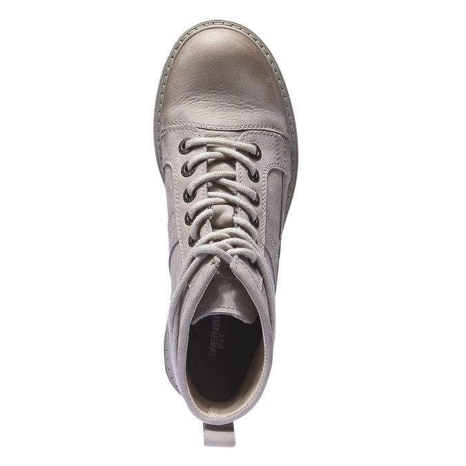 Kožená obuv s originálními tkaničkami weinbrenner, žlutá, 596-8409 - 19