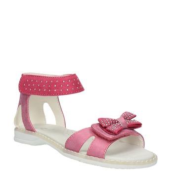 Dívčí sandály s mašlí mini-b, růžová, 261-5160 - 13