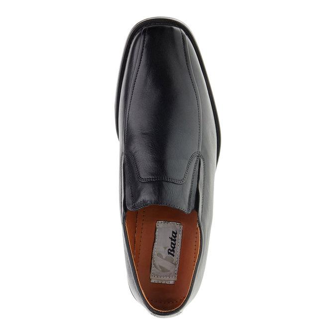 Pánské kožené polobotky bata, černá, 814-6142 - 19