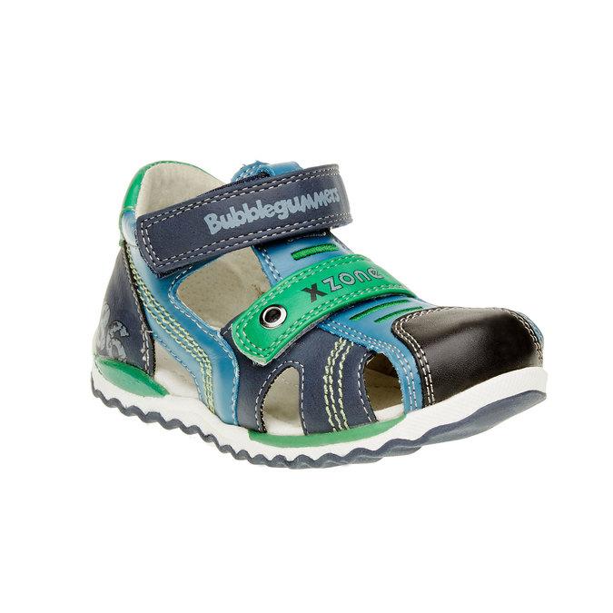 Dětské kožené sandály bubblegummer, modrá, 114-9144 - 13