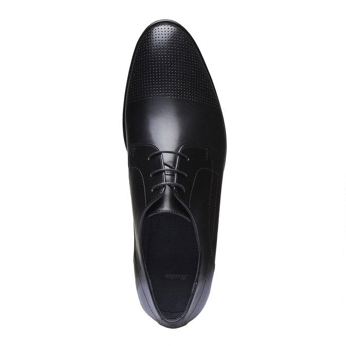 Pánské kožené polobotky bata, černá, 824-6275 - 19