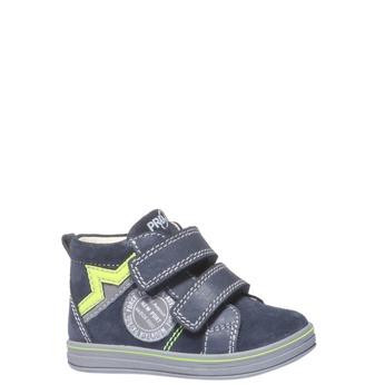 Kožené kotníkové boty na suché zipy primigi, modrá, 113-9121 - 13