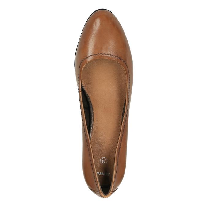 Dámské lodičky na širokém podpatku bata, hnědá, 726-3604 - 19