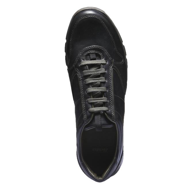 Kožené tenisky bata, černá, 844-6270 - 19