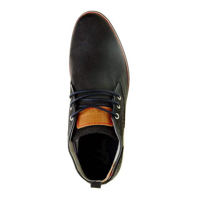 Kotníčkové kožené polobotky bata, černá, 843-9311 - 19
