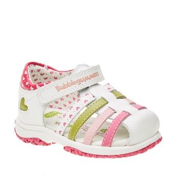 Dětské sandály s uzavřenou patou bubblegummer, bílá, 124-1142 - 13