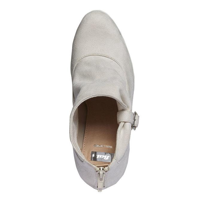 Kotníčkové kozačky s výraznou podešví bata, šedá, 799-8630 - 19