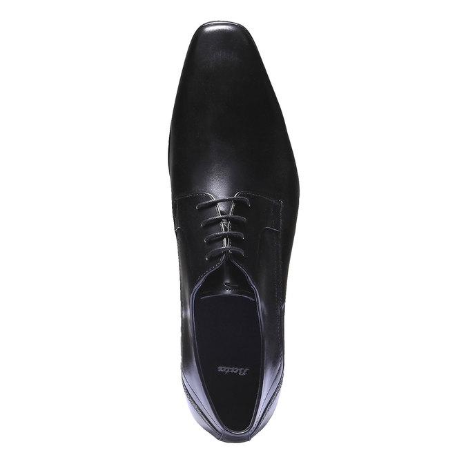 Kožené polobotky v Derby stylu bata, černá, 824-6548 - 19