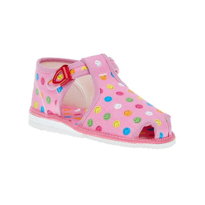 dětská domácí obuv bata, růžová, 179-5100 - 13